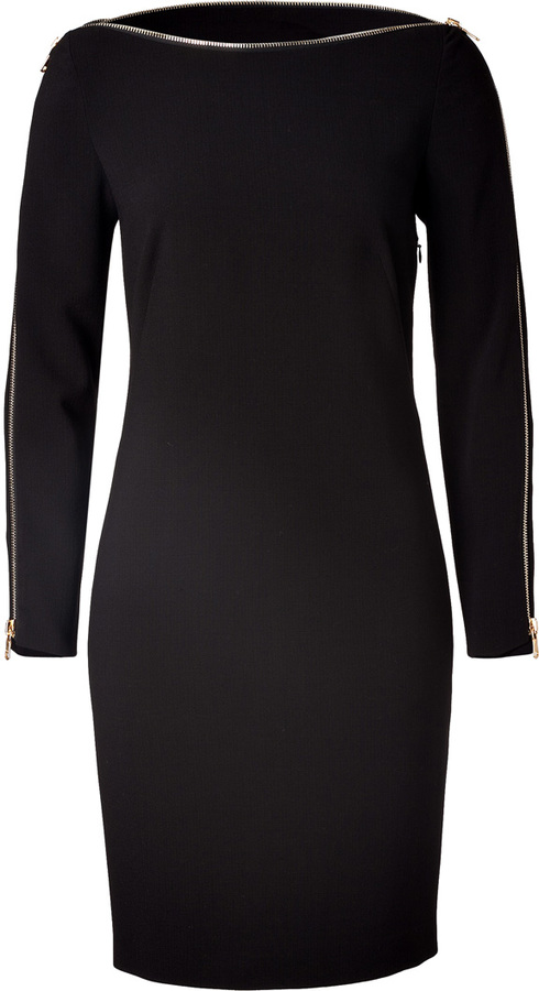 Emilio Pucci Black Side Ruffle Dress Sheath Dress Emilio Pucci