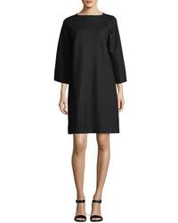 Eileen Fisher Easy Bell Sleeve Boiled Wool Jersey Shift Dress