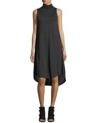 Rag & Bone Nova Turtleneck Sleeveless High Low Shift Dress