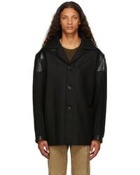 Maison Margiela Black Melton Wool Kaban Jacket