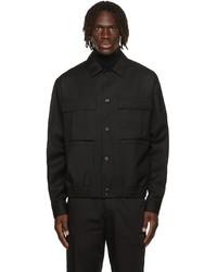 Z Zegna Black Techmerino Overshirt Jacket