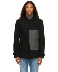 Maison Margiela Black Wool Canvas Kaban Jacket