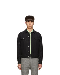 Paul Smith Black Wool Casual Jacket
