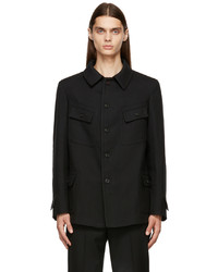 Maison Margiela Black Wool Kaban Jacket