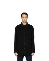 Acne Studios Black Wool Shirt Jacket