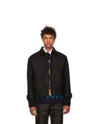 Prada Black Zip Up Jacket