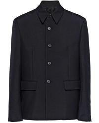 Prada Single Breasted Wool Jacket