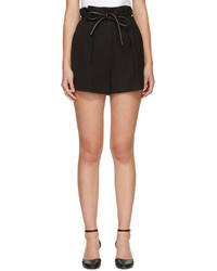 3.1 Phillip Lim Black Origami Pleat Shorts