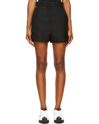 Proenza Schouler Black Textured High Waisted Short