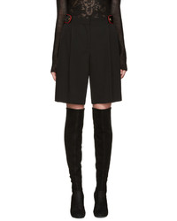 Givenchy Black Wool Shorts