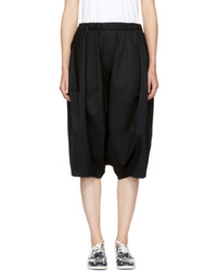 Comme des garons girl black wool oversized shorts medium 5258564