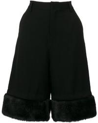 Comme des Garcons Comme Des Garons Noir Kei Ninomiya Faux Fur Trim Shorts
