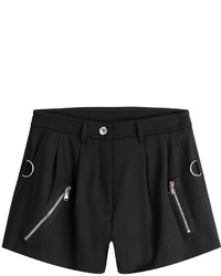 Moschino Virgin Wool Shorts With Zippers