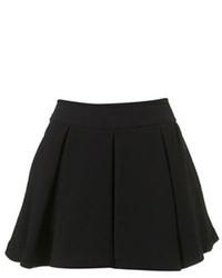 Black Wool Skater Skirt