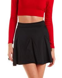 Charlotte Russe Ponte Knit Skater Skirt