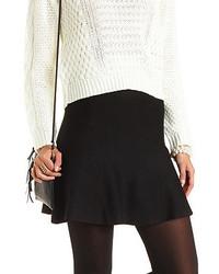 Charlotte Russe Sweater Knit Skater Skirt