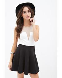 cbc0bb3ab4 Forever 21 Scuba Knit Skater Skirt, $19 | Forever 21 | Lookastic.com