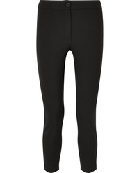 Ann Demeulemeester Cropped Stretch Wool Slim Leg Pants