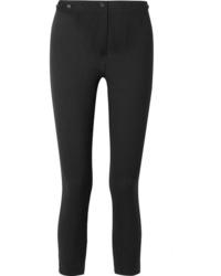 Ann Demeulemeester Cropped Wool Blend Slim Leg Pants