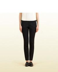 Gucci Black Silk Wool Stretch Pant