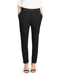 Mango Outlet Wool Blend Flowy Trousers
