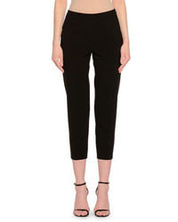 Side zip skinny cropped pants black medium 651583