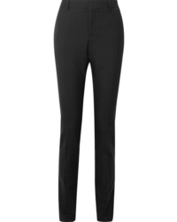 Saint Laurent Wool Gabardine Slim Leg Pants