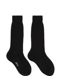 Brioni Black Wool Socks