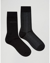 Hugo Boss Boss By Wool Mix Socks In 2 Pack