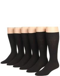 Ecco Socks Dress Wool Rib Midcalf 6 Pack