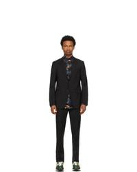 Lanvin Black Half Canvas Suit
