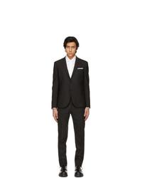 Neil Barrett Black Slim Rever Travel Suit