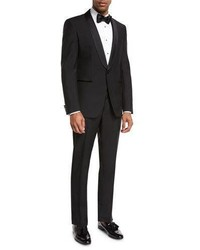 Hugo Boss Boss Satin Collar Two Piece Tuxedo Black