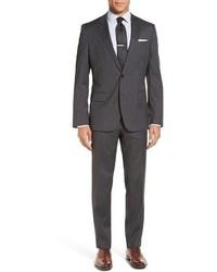 Hugegenius trim fit solid wool suit medium 749907