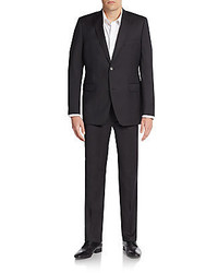 Saks Fifth Avenue Trim Fit Solid Wool Suit