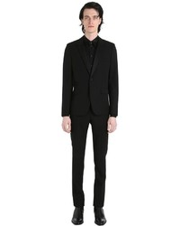 Saint Laurent Virgin Wool Gabardine Tuxedo Suit