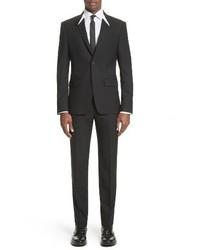 White inset madonna collar wool suit medium 3991823