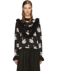 Stella McCartney Black Ruffle Swan Sweater