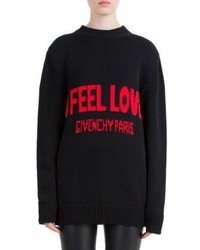 Givenchy I Feel Love Wool Sweater