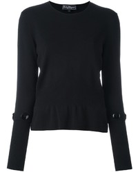 Salvatore Ferragamo Button Detail Jumper