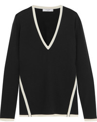 Lanvin Two Tone Wool Sweater Black