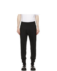 Neil Barrett Black Canvas Lounge Pants