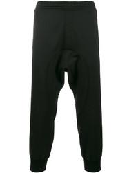 Neil Barrett Black Ribbed Cuff Track Pants