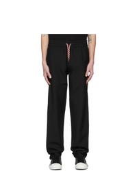 Burberry Black Wool Lounge Pants