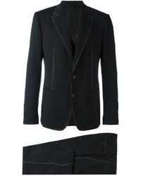 Dolce & Gabbana Contrast Stitch Three Piece Suit