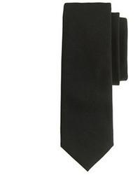 Italian wool tie in black medium 45810