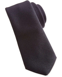 Woven wool tie black medium 225798