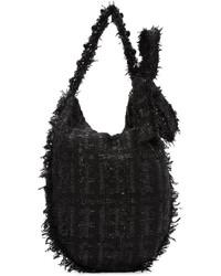 Black Wool Tote Bag