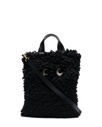 Black wool shag shop shopper bag medium 7537720