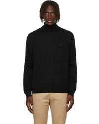 Lacoste Black Merino Wool Turtleneck